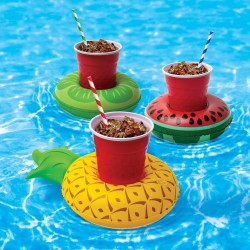 fruit gonflable support de verre canette pour piscine