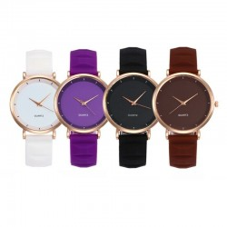 Montre silicone design casual