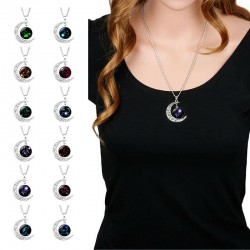 Collier lune constellation signe zodiaque