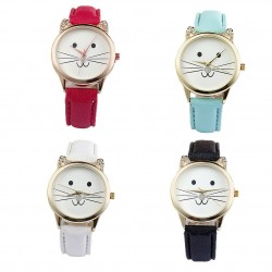 Montre analogique chat strass
