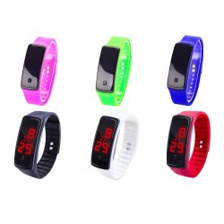 Montre digitale LED silicone homme femme