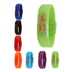 Montre digitale LED silicone homme femme sport