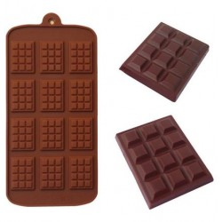 Moule en silicone 12 mini tablette plaque de chocolat