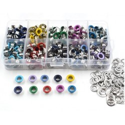 Lot de 300 oeillets multicolore diamètre trou 5mm