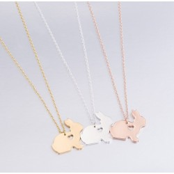 Collier lapin coeur