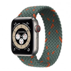 Bracelet tressé pour montre apple iWatch série 3 4 5 se 6 gris orange